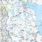 Vienan Karjalan kartta, jossa merkinnät kaivuupaikoista.